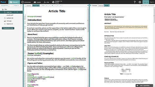 PeerJ partners with Overleaf – now LaTeX submissions can be as easy