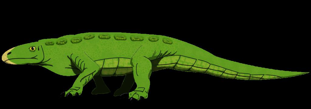 Illustration of Crosbysaurus by Robert Gay