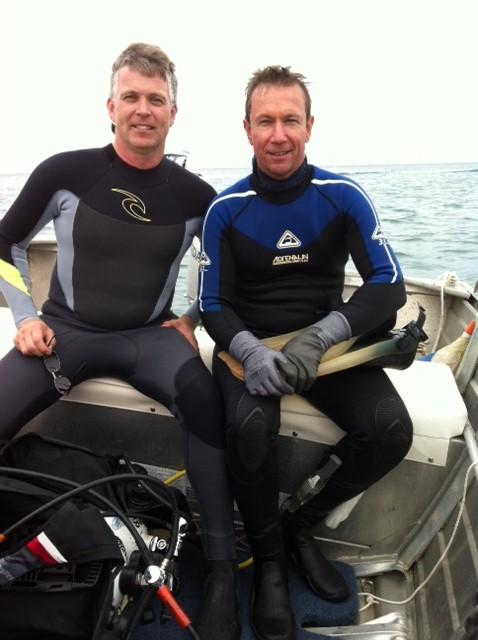 Co-authors David Blakeway (right) and Michael Hamblin