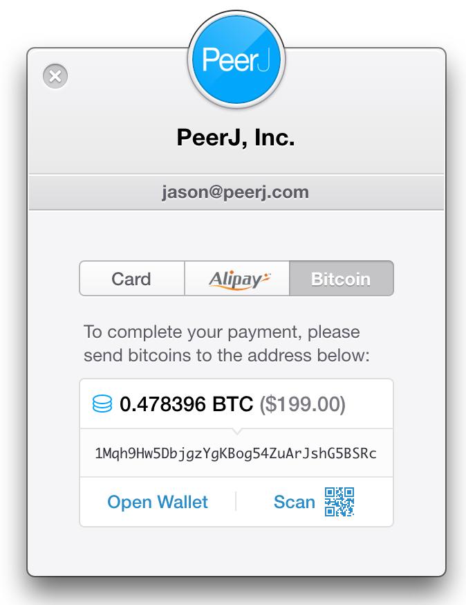 PeerJ accepts Bitcoin